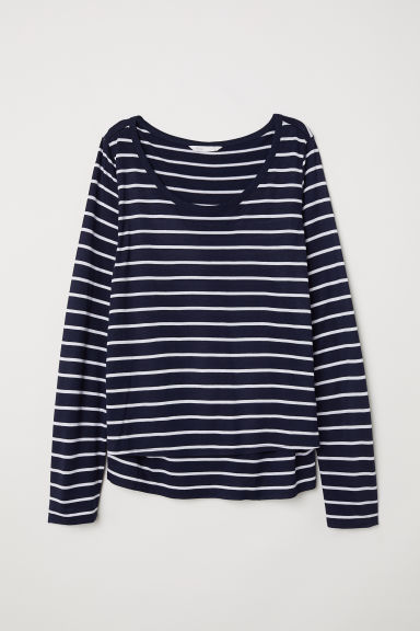 MAMA Nursing top - Dark blue/Striped -  | H&M IE