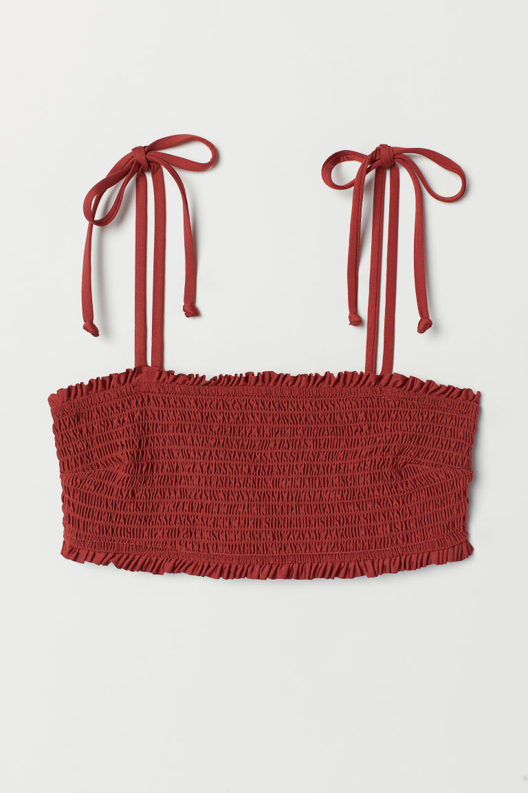 Top bikini a fascia - Rosso ruggine -  | H&M IT