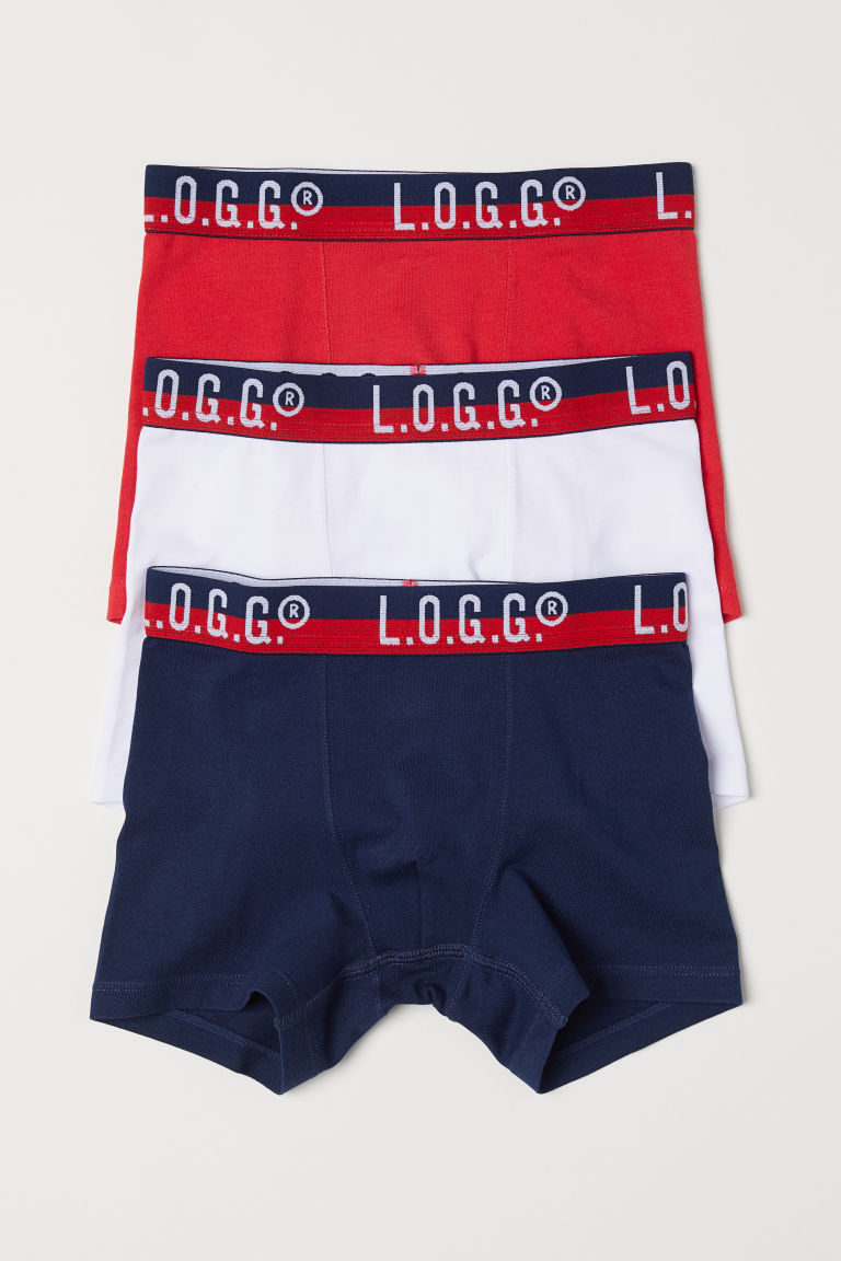 3-pack boxer shorts - Red/Dark blue - Kids | H&M CN