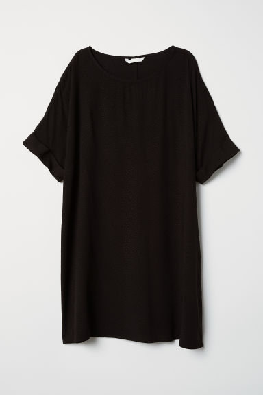 Abito a maniche corte - Nero - DONNA | H&M IT