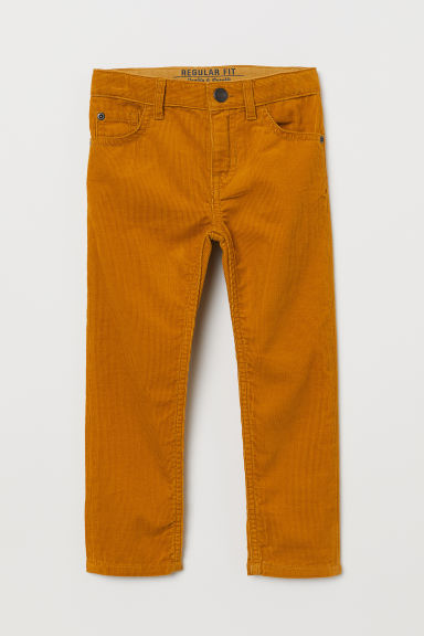Corduroy trousers - Mustard yellow - Kids | H&M
