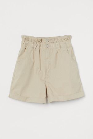 Cotton Paper-bag Shorts