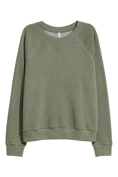 Sweatshirt - Khaki green - Ladies | H&M IE