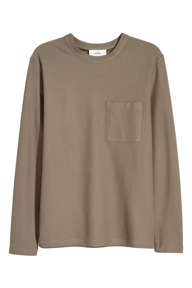 Pima cotton top - Khaki green - Men | H&M