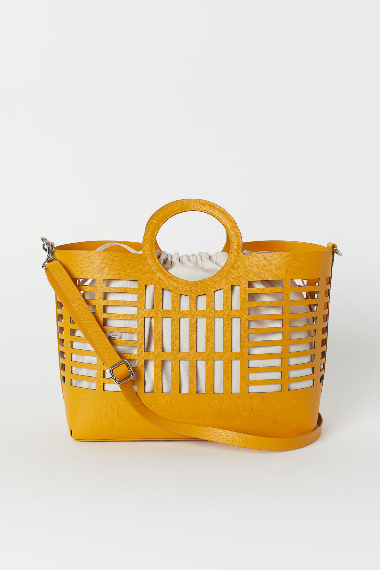 Hole-patterned shopper - Yellow - Ladies | H&M GB
