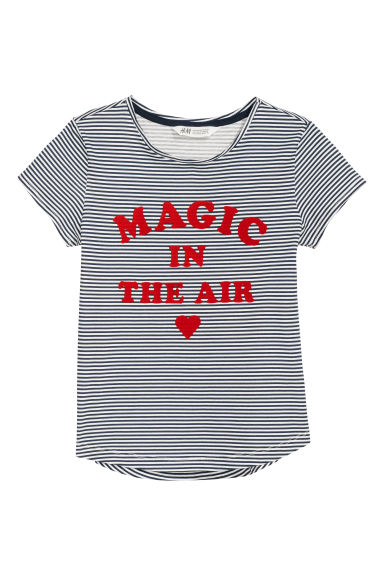 Camiseta estampada de punto - Blanco/Magic In The Air - NIÑOS | H&M ES