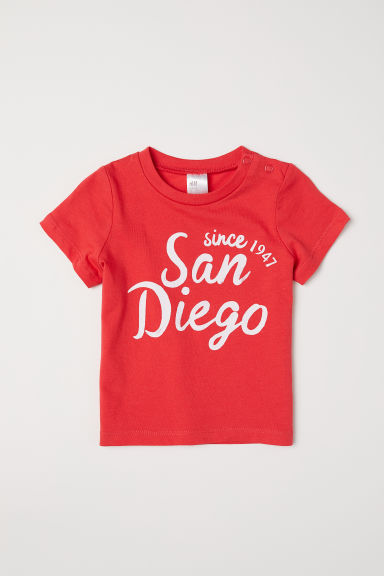 T-shirt in cotone - Rosso/San Diego - BAMBINO | H&M IT