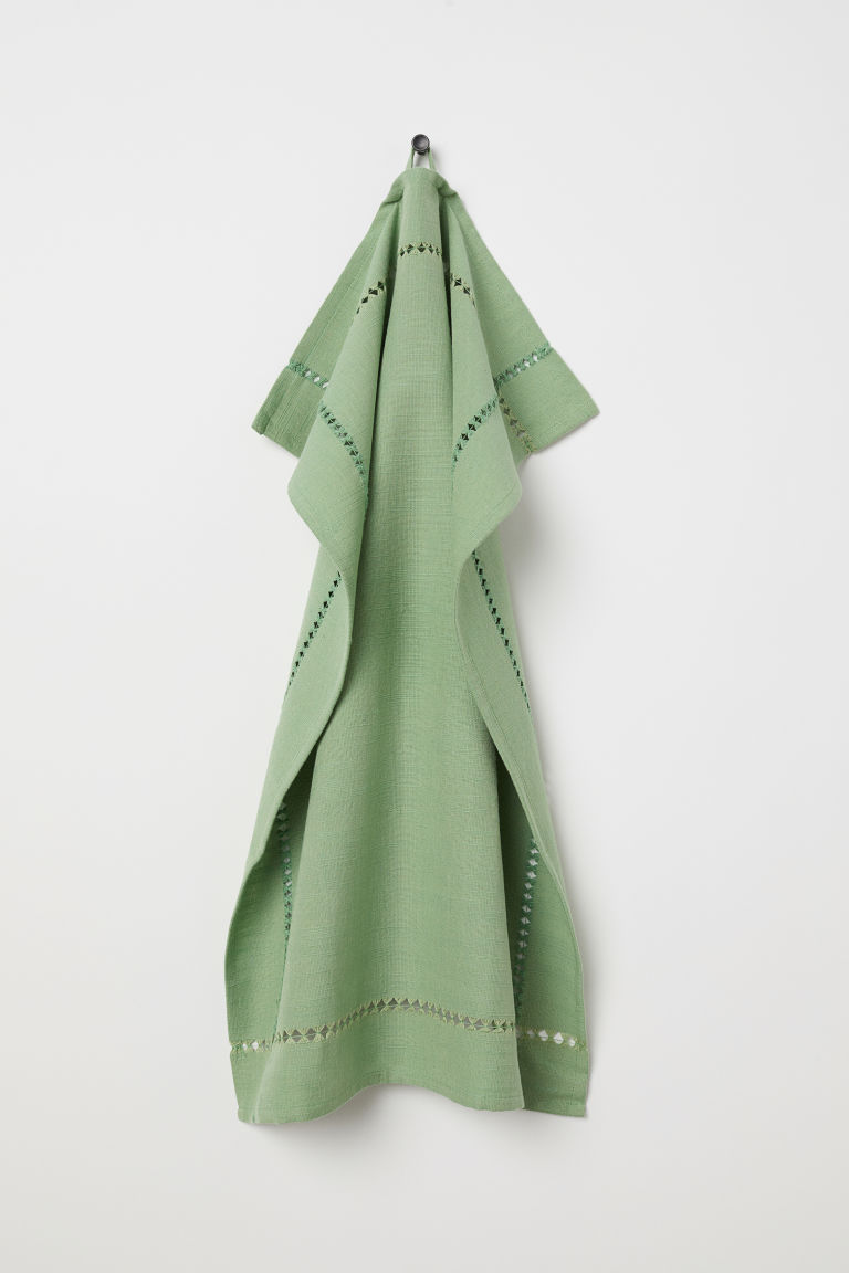 Cotton tea towel - Green - Home All | H&M IE