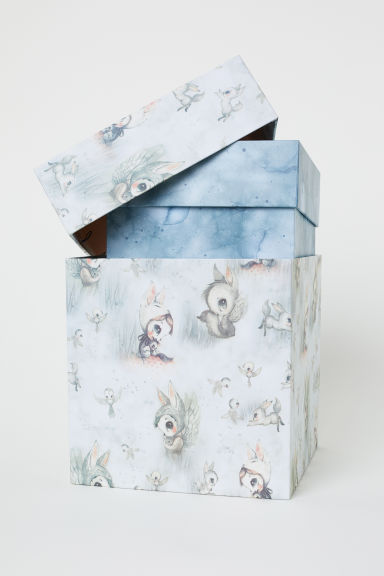 2-pack storage boxes - Dusky blue/White - Kids | H&M CN
