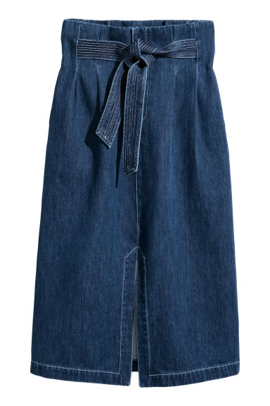 Denim skirt - Denim blue - Ladies | H&M IE