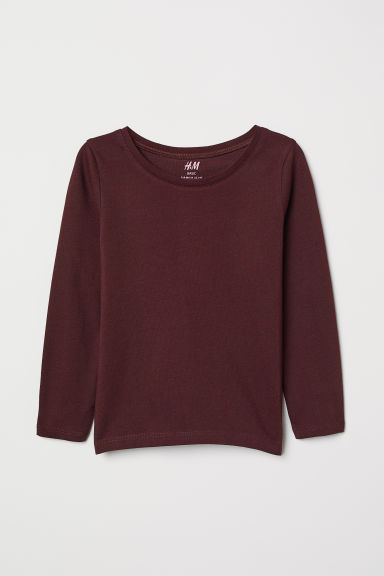 Jersey top - Burgundy - Kids | H&M