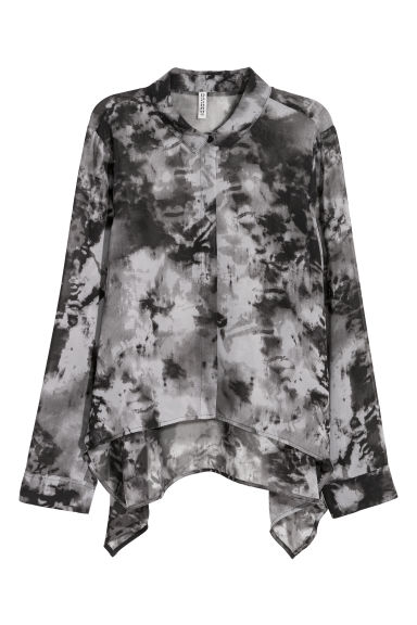 Chiffon blouse - Grey-black - Ladies | H&M GB