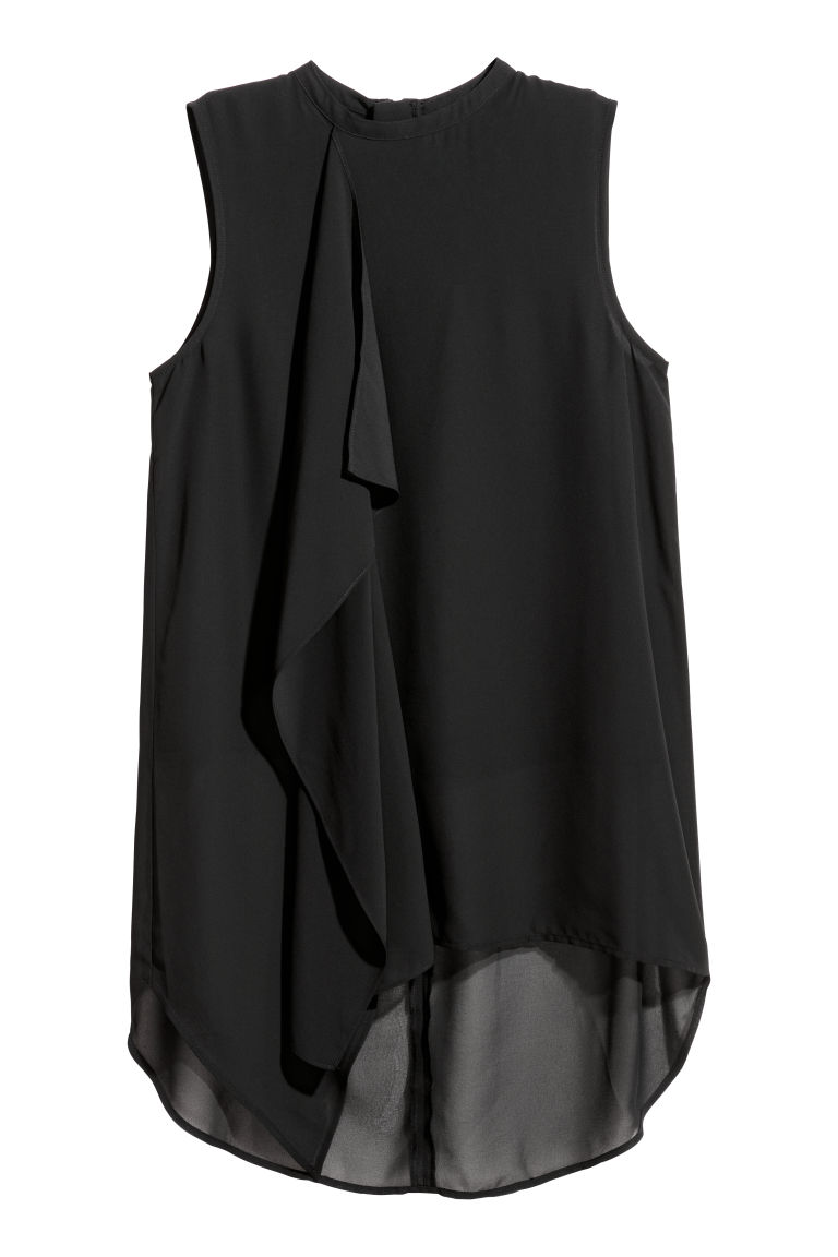Chiffon top - Black - Ladies | H&M