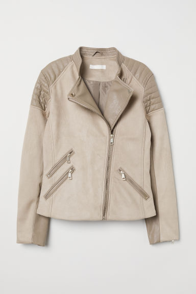 Biker jacket - Light mole - Ladies | H&M