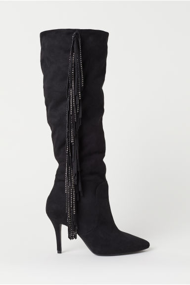 Boots with fringing - Black - Ladies | H&M CN