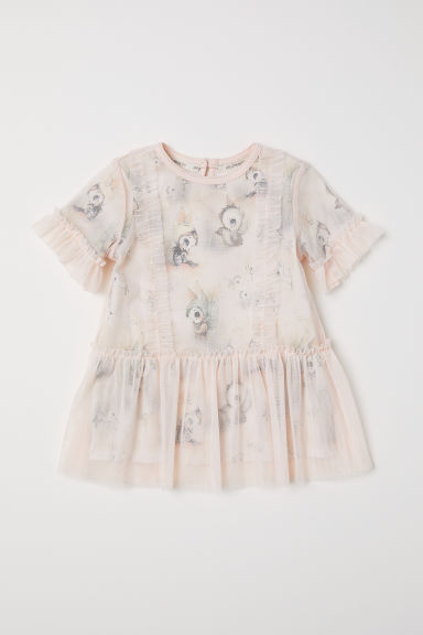 Double-layered tulle dress - Powder pink - Kids | H&M CN