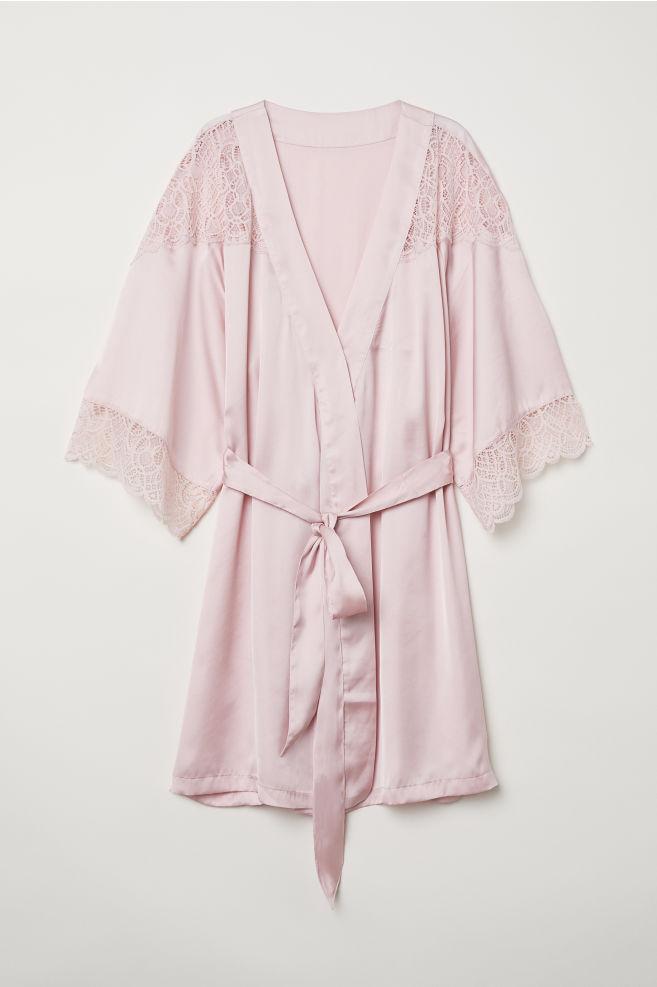e9a019d7c6b Satin kimono - Light pink - Ladies