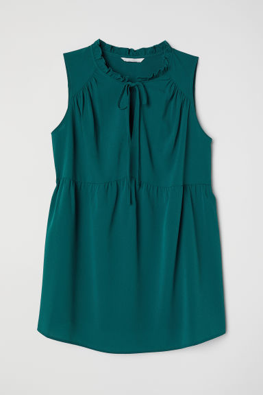 MAMA Sleeveless blouse - Dark petrol - Ladies | H&M CN