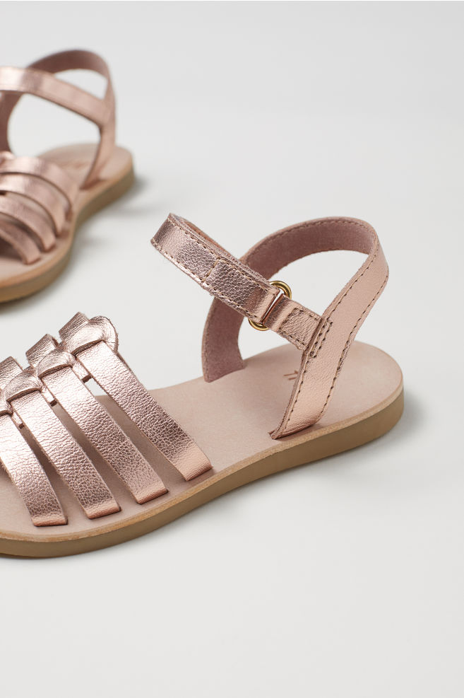 6ca2cd365369 Leather Sandals - Rose gold-colored - Kids