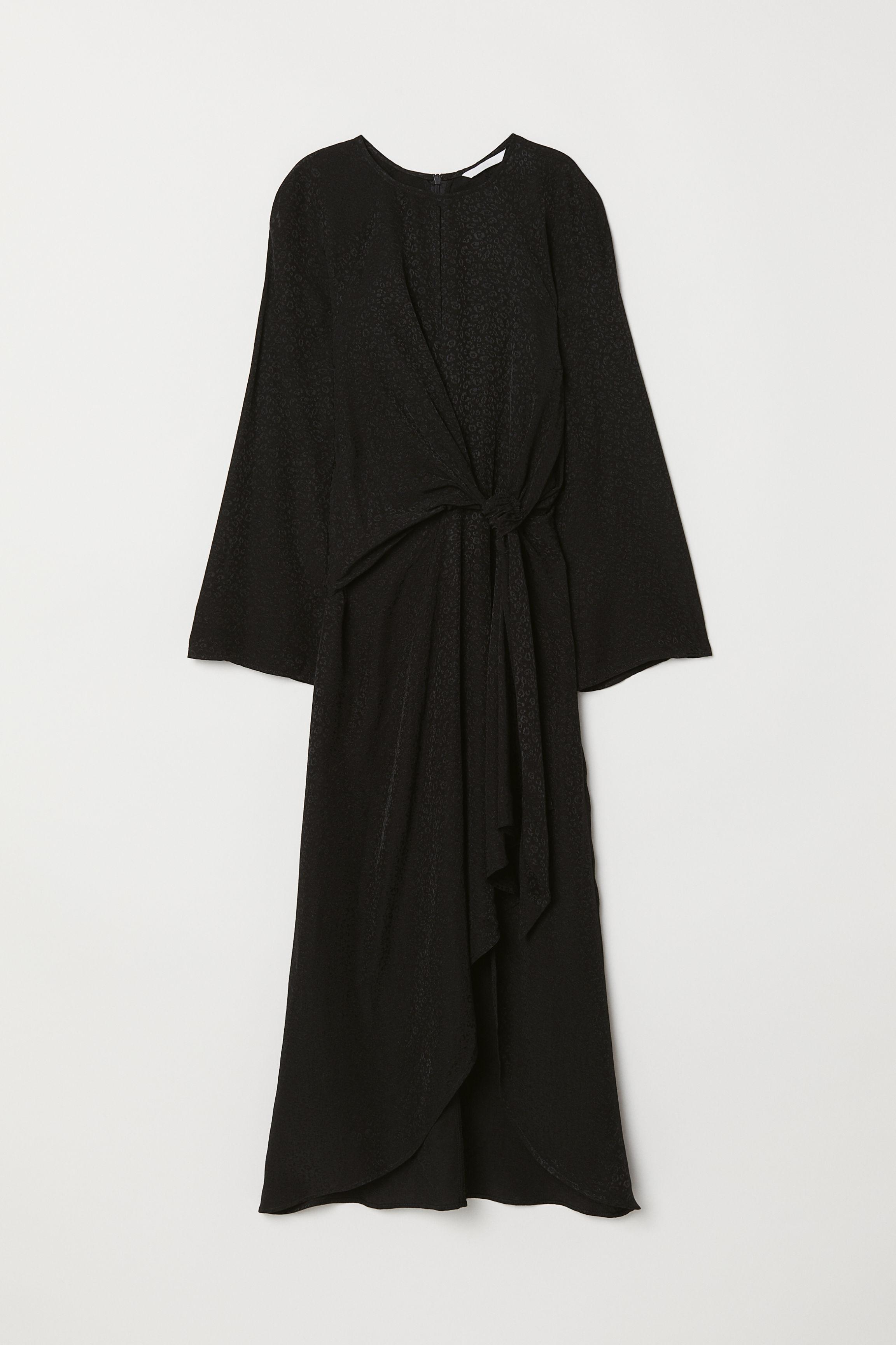 3fbd4ad35161 Jacquard-weave dress - Black/Leopard print - Ladies | H&M GB