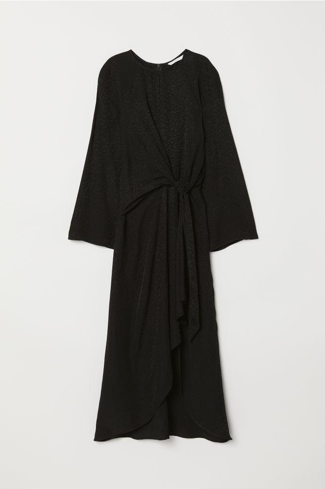 aa57bfec1513 Žakárové šaty - čierna leopardí vzor -