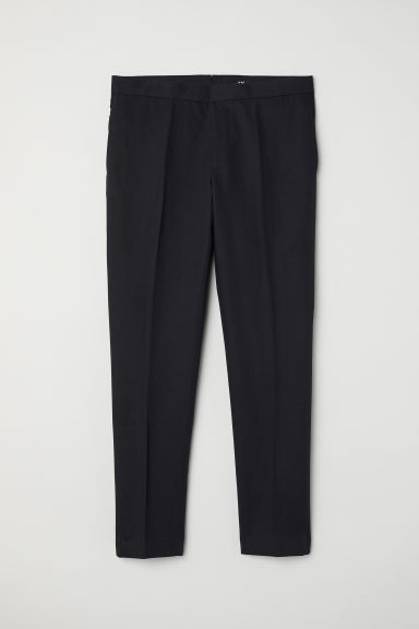 Tuxedo trousers Slim fit - Black - Men | H&M CN