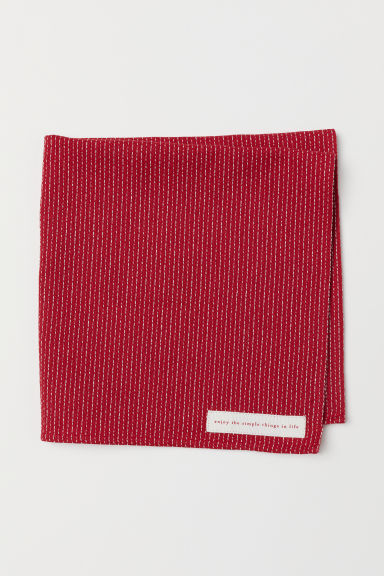 Serviette de table jacquard - Rouge/motif - Home All | H&M FR