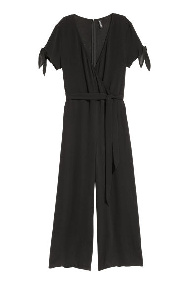 Crêpe jumpsuit - Black - Ladies | H&M GB