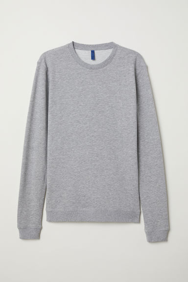 Sweater - Muscle fit - Grijs gemêleerd - HEREN | H&M BE
