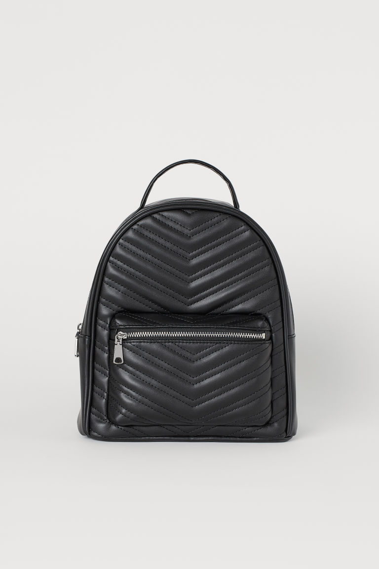 Small backpack - Black/Quilted -  | H&M CN