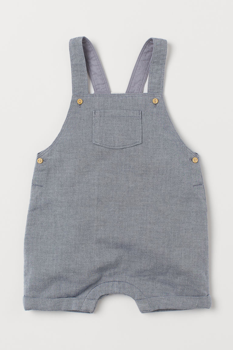 Cotton dungaree shorts - Blue - Kids | H&M