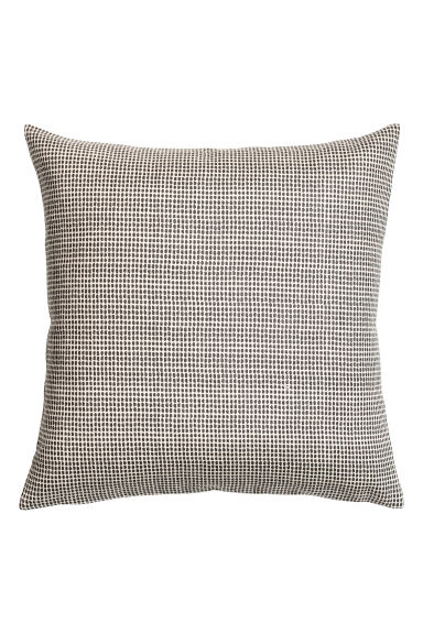 Spotted cushion cover - Dark grey - Home All | H&M GB