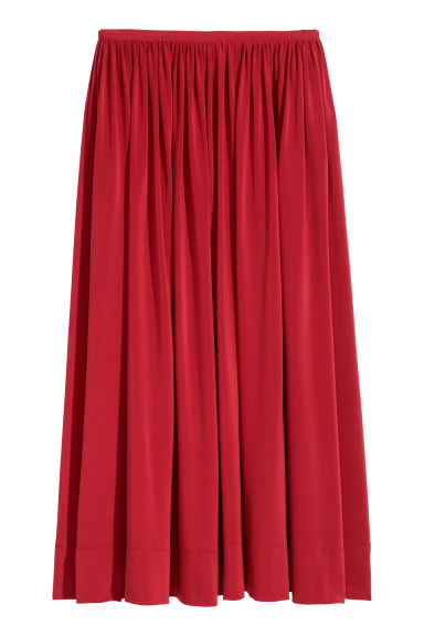 Calf-length skirt - Red - Ladies | H&M