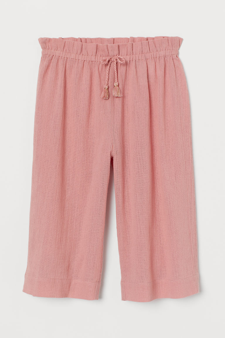 Crinkled culottes - Powder pink - Kids | H&M