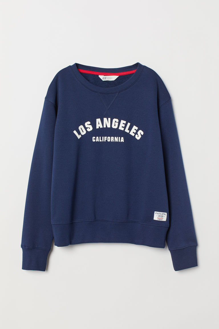 Sweatshirt - Dark blue/Los Angeles - Ladies | H&M