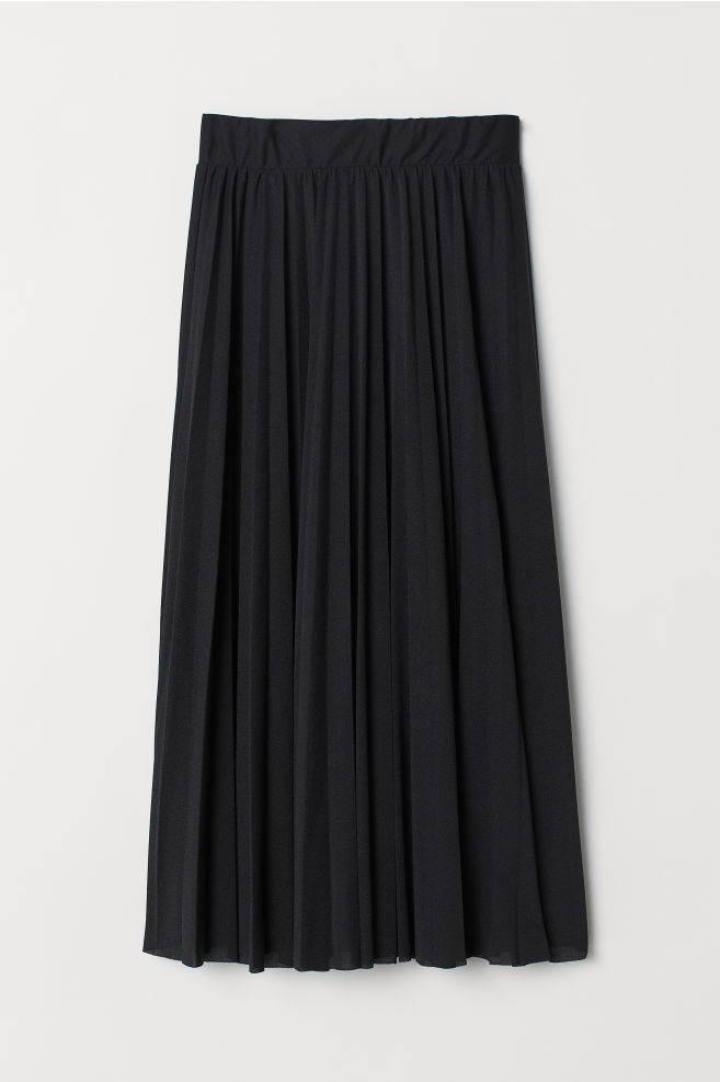 754ecdfde44b Plisserad kjol - Svart - DAM   H&M SE