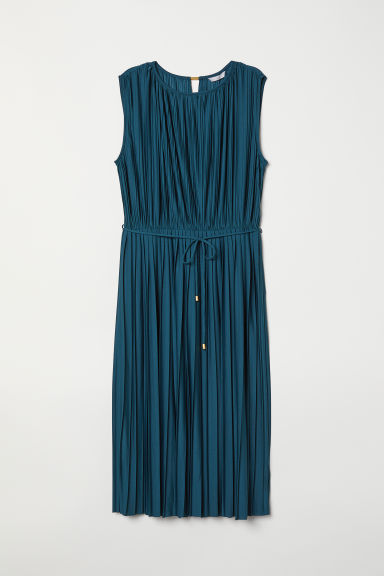 Pleated dress - Dark petrol - Ladies | H&M