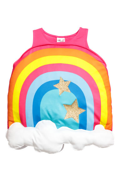 Rainbow fancy dress costume - Cerise/Rainbow - Kids | H&M