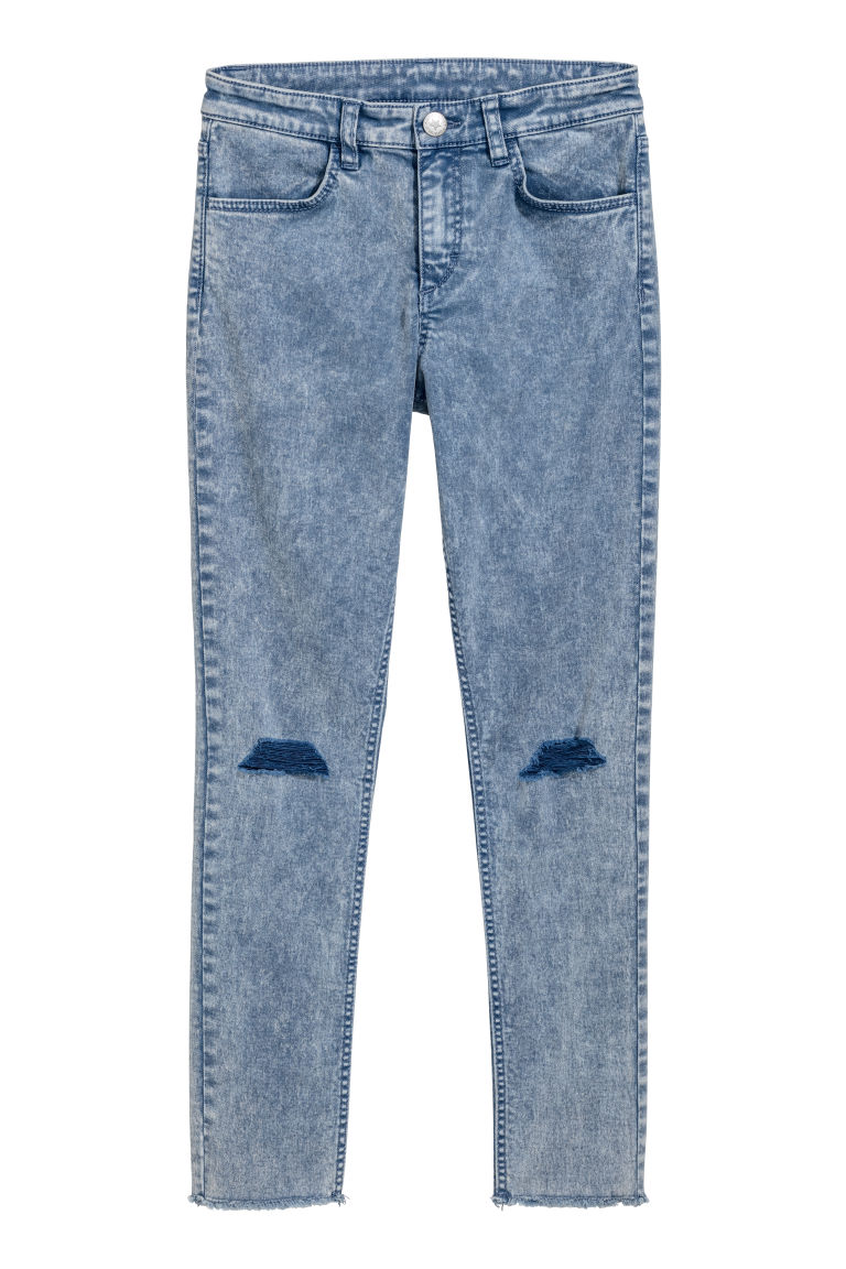 Superstretch trousers - Blue washed out - Kids | H&M CN