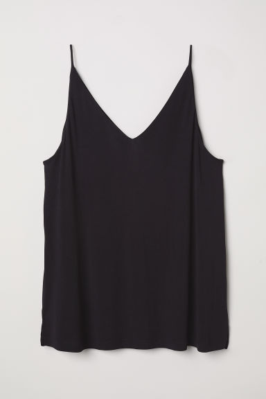H&M+ V-neck jersey top - Black - Ladies | H&M CN