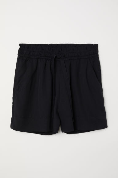 H&M+ Lyocell shorts - Black - Ladies | H&M CN