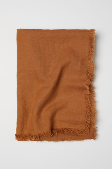 Washed linen bedspread - Ochre - Home All | H&M CN