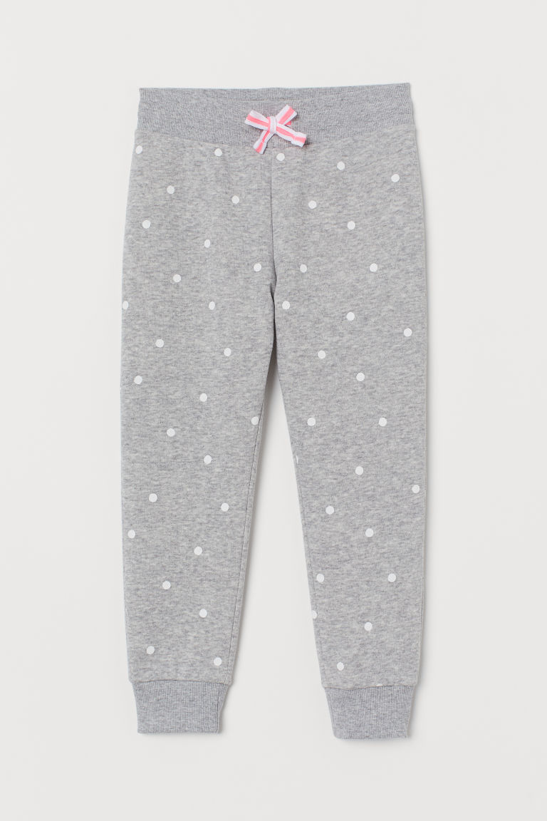 Joggers - Light grey marl/Spotted - Kids | H&M IE