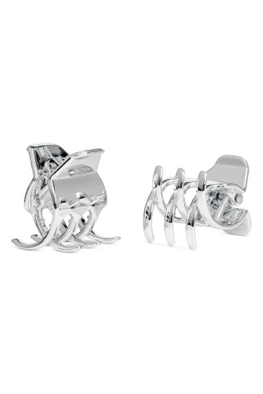 2-pack hair clips - Silver-coloured -  | H&M CN