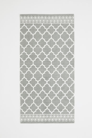 Tappeto in cotone fantasia - Grigio - HOME | H&M IT