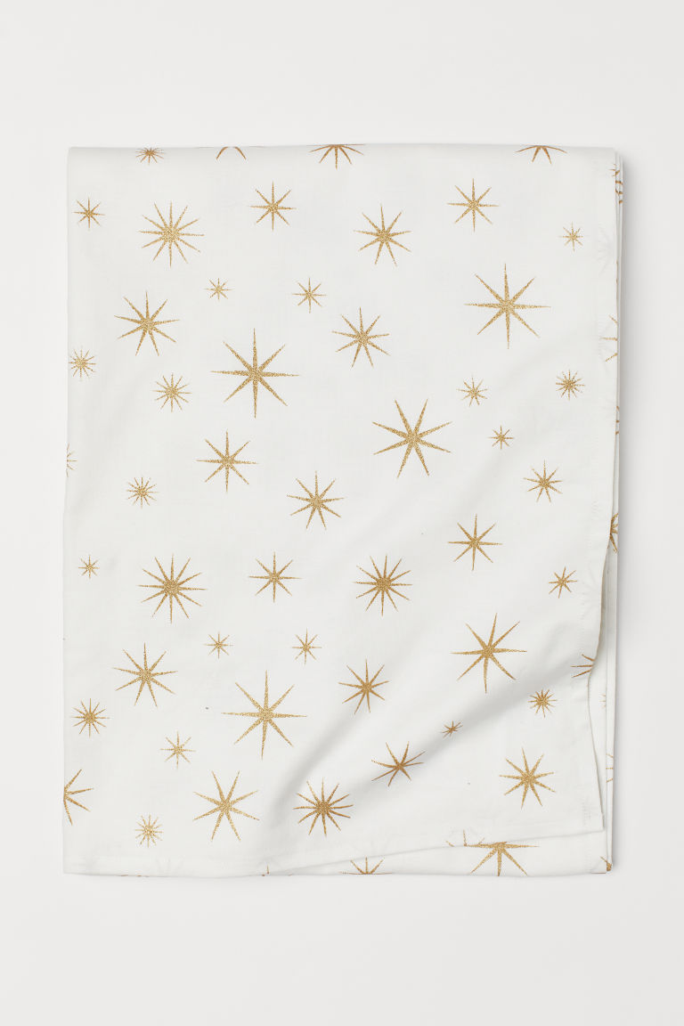 Patterned cotton tablecloth - White/Stars - Home All | H&M GB