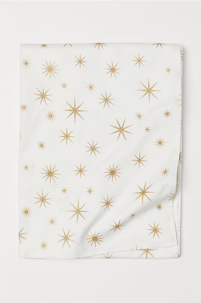 Patterned tablecloth - White/Stars - Home All | H&M GB 2