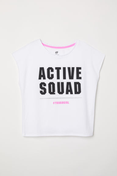 Sporttop - Wit/Active squad - KINDEREN | H&M BE