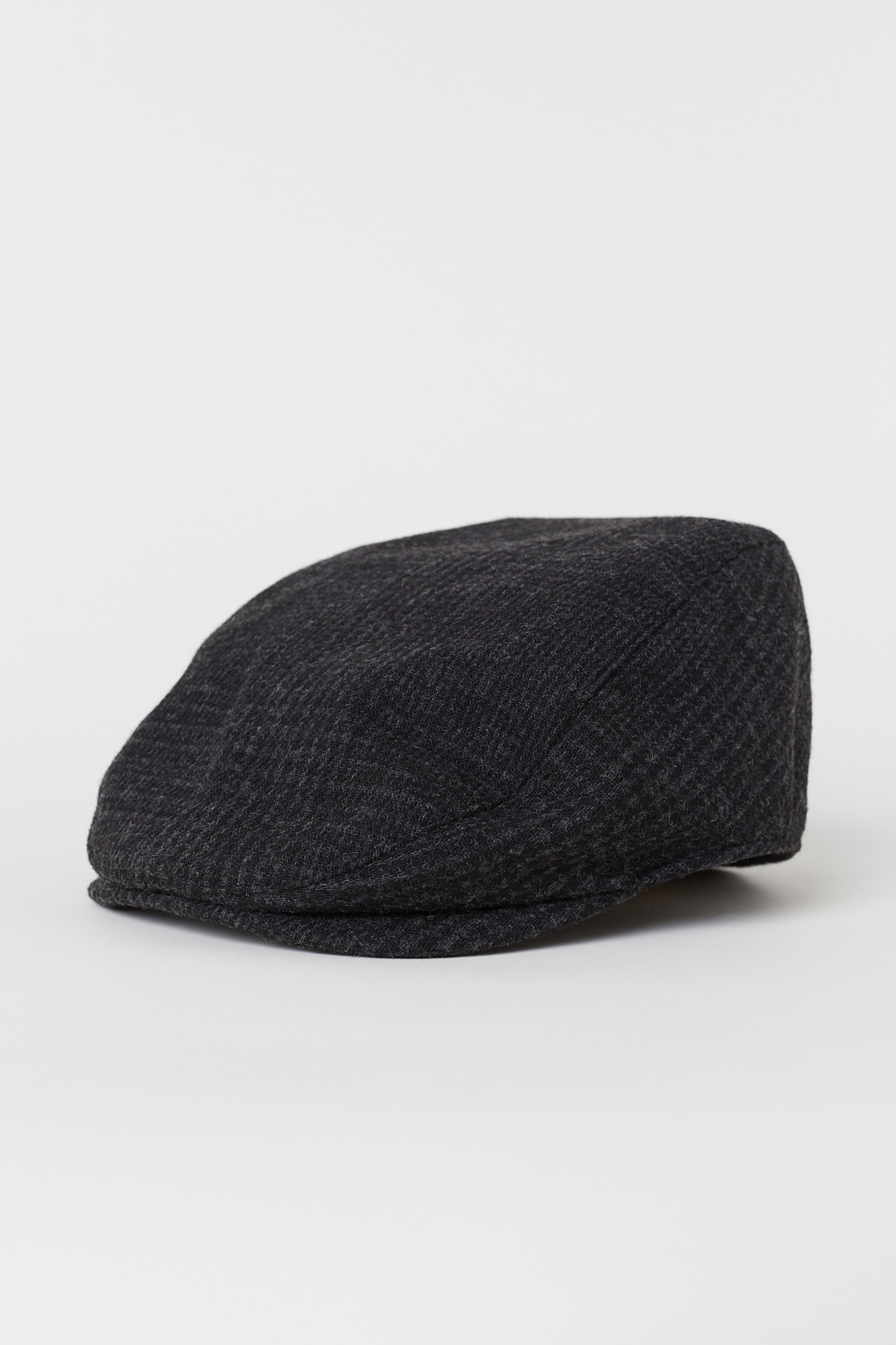 f5675599c2ab8 Wool-blend Flat Cap - Dark gray melange - Men