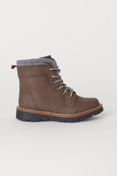 Fleece-lined boots - Brown - Kids | H&M CN